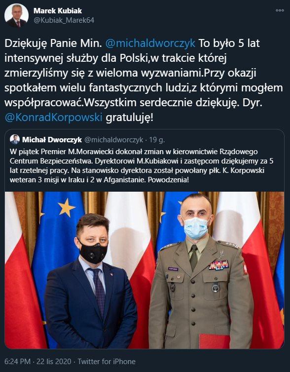 Marek Kubiak dziękuje M. Dworczykowi za współpracę.