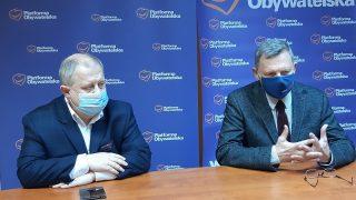 Konferencja prasowa PO | od lewej: Dariusz Młynarczyk, Tomasz Nowak