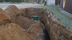 osadzania podziemnego zbiornika wód opadowych w ramach programu Deszczówka
