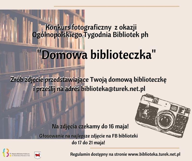 Domowa biblioteczka - plakat konkursowy