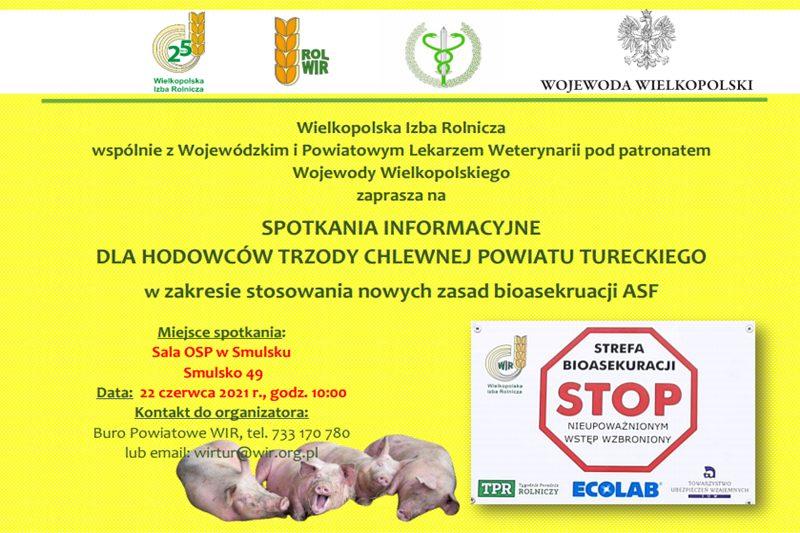 WIR Turek: szkolenie w zakresie nowych zasad bioasekuracji ASF