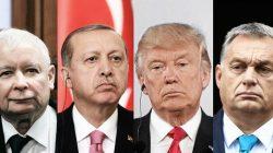 Od lewej: Kaczyński, Erdogan, Trump, Orban