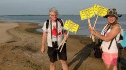 OTOP Turek. Obrączkowali rybitwy i montowali tabliczki na zbiorniku Jeziorsko
