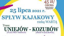 Spływ kajakowy Uniejów - Kozubów (2021)