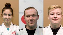UKS Judo Tuliszków. Od lewej: Julia Kocimska, Norbert Tomaszewski, Jan Antoniewicz