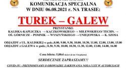 Komunikacja specjalna Turek - Galew (komunikat)