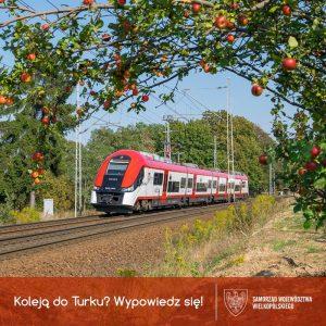 Kolej do Turku? Wypowiedz się! Konsultacje społeczne - plakat UMWW